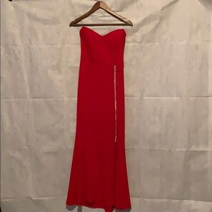 PARTY DRESS Red and silver hardware size s